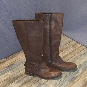 Steve Madden Toureg Leather Buckle Riding Boots